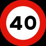 40kmh skilt
