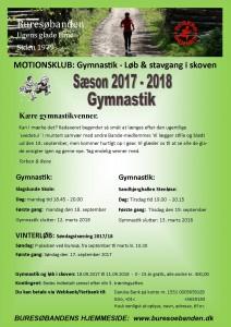 Plakat gymnastik og vinterløb 2017 - 2018